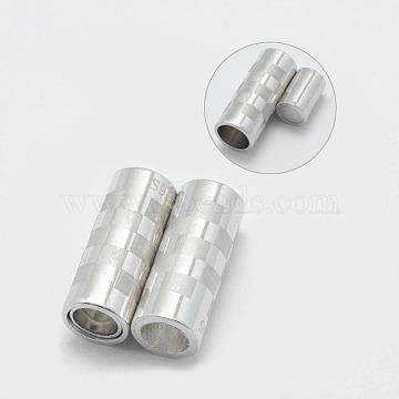 Platinum Column Sterling Silver Magnetic Clasps