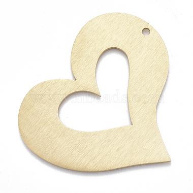 Golden Heart Aluminum Big Pendants