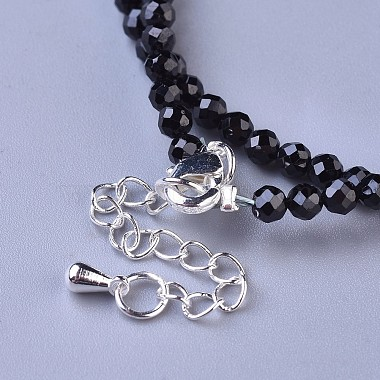 Natural Black Spinel Beaded Necklaces(NJEW-K114-A-A20)-3