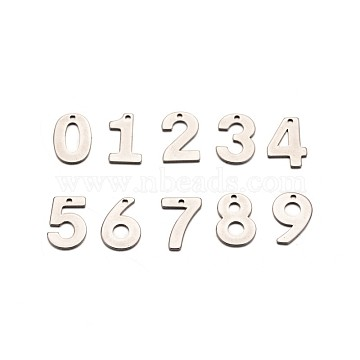 Stainless Steel Color Number Stainless Steel Charms