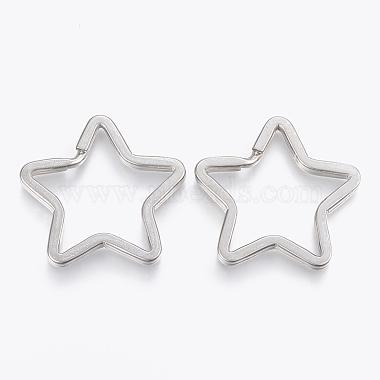 Stainless Steel Color Star Stainless Steel Split Key Rings