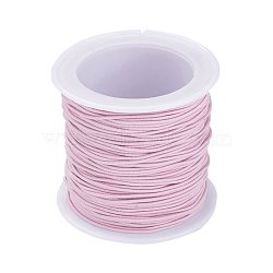 Elastic Cord, Pink, 1mm, about 22.96 yards(21m)/roll(X-RB1.0mm-16)