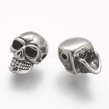 Antique Silver Skull Stainless Steel Beads