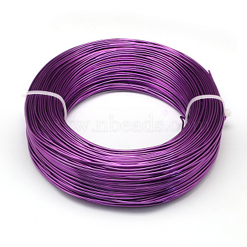 Aluminum Wire, Bendable Metal Craft Wire, for DIY Jewelry Craft Making, Dark Violet, 7 Gauge, 3.5mm; 20m/500g(65.6 Feet/500g)(AW-S001-3.5mm-11)