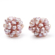 Handmade Natural Pearl Woven Beads(WOVE-S116-02A)-2
