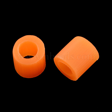 PE DIY Melty Beads Fuse Beads Refills, Tube, Chocolate, 3~3.3x2.5~2.6mm(X-DIY-R013-2.5mm-A18)