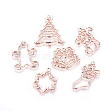 Rose Gold Mixed Shapes Alloy Pendants