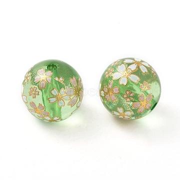 18mm Green Round Resin Beads