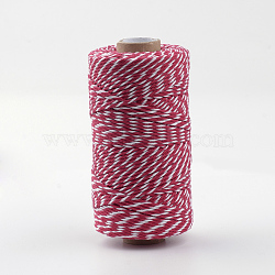 Cotton Cords, Macrame Cord, Red, 1.5~2mm; about 100yards/roll(300 feet/roll)(X-YC-R007-04)