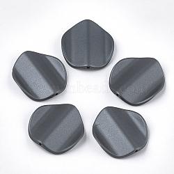 perles acryliques de style caoutchoutées, vague, pétale, slategray, 35.5x33x8 mm, trou: 1.8 mm(MACR-T026-22C)