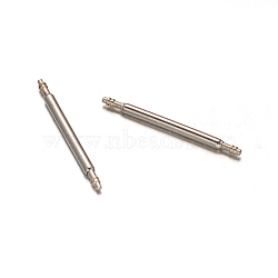Stainless Steel Double Flanged Spring Bar Watch Strap Pins, Stainless Steel Color, 20x1.5mm(STAS-M231-05)