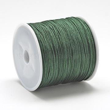 Nylon Thread, Dark Green, 0.8mm, about 109.36 yards(100m)/roll(NWIR-Q008A-258)
