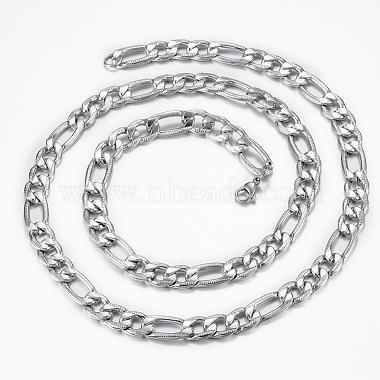 Trendy Men's Figaro Chain Necklaces(NJEW-L450-06B)-2