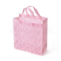 экологически чистые многоразовые сумки, нетканые сумки для покупок, pearlpink, 26.6x12.75x31 cm(ABAG-L004-N01)