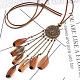 Feather Bib Statement Necklaces(NJEW-F270-01)-2