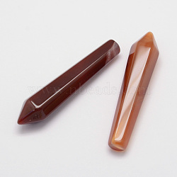 Natural Carnelian Pointed Decorations, Bullet, 50~53.5x11x10mm(X-G-D860-B12)