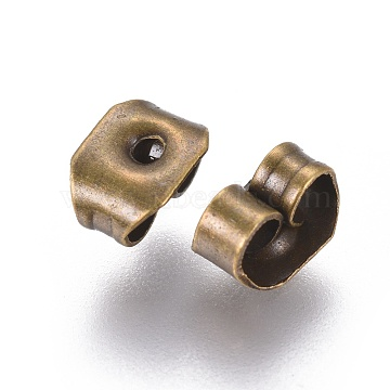 Antique Bronze Iron Ear Nuts