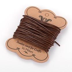 Cordon en cuir de vachette, cordon de bijoux en cuir , marron, taille: environ 1.5mm de diamètre(X-WL-H014-1)