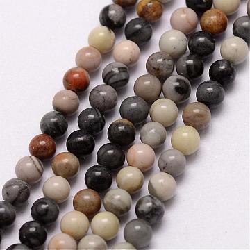 3mm Round Picasso Stone Beads