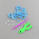 DIY Fluorescent Neon Rubber Loom Bands Refills with Bands and Accessories(X-DIY-R010-05)-2