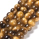 Natural Tiger Eye Round Bead Strands(G-L411-07-6mm)-2
