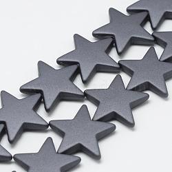 Chapelets de perles en acrylique de style caoutchouté, étoiles, darkgray, 26x27.5x5.5mm, Trou: 1.5mm(MACR-S857-04)