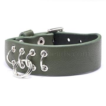 DarkSeaGreen Imitation Leather Watch Band