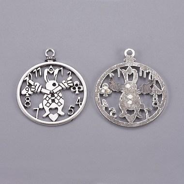 Antique Silver Clock Alloy Pendants