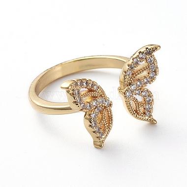 Adjustable Brass Cuff Finger Rings(RJEW-G096-03G)-2