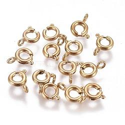 304 пружинные кольца из нержавеющей стали, золотой, 5x1.5 mm, отверстия: 1.5 mm(STAS-F224-02G-A)
