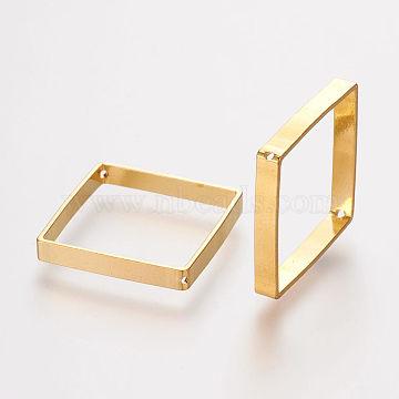 Brass Bead Frames, Rhombus, Golden, 18.5x18x0.5mm, Hole: 0.5mm(X-KK-F695-04G)
