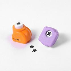 Kits de punchv de Mini embarcation en plastique pour scrapbooking et artisanat en papier, trèfle, couleur aléatoire, 33x26x31mm(AJEW-F003-05)