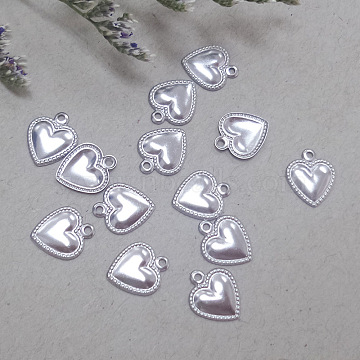 Stainless Steel Color Heart Stainless Steel Charms
