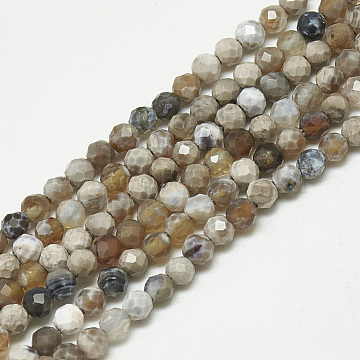 3mm Round Fire Agate Beads