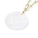 Natural Freshwater Shell Pendant Necklaces(X-NJEW-JN02788)-3