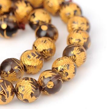 8mm Camel Round Tiger Eye Beads