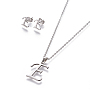 Stainless Steel Stud Earrings & Necklaces(X-SJEW-L141-052E)