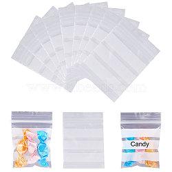 sacs à fermeture zip, sacs refermables, peut être écrit, rectangle, effacer, 7x5 cm; 300 pcs / set(OPP-PH0001-14-5x7cm)