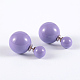 Trendy Round Ball Acrylic Pearl Ball Stud Earrings for Women(X-EJEW-D117-06)-1