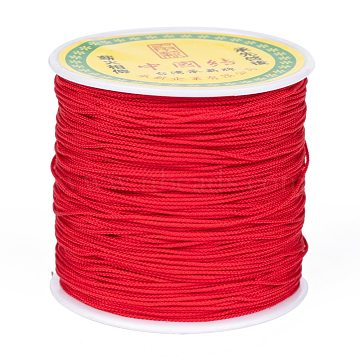 Chinese Knot Nylon Thread, Red, 0.8mm, about 98.42 yards(90m)/roll(NWIR-S005-0.8mm-06)