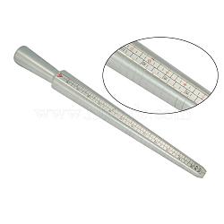 Anneau en plastique taille baguette, mandrin anneau de bague de bijoux DIY faisant, platine, 250mm(TOOL-TA0005-02)