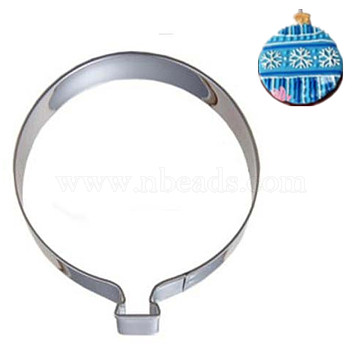 304 Stainless Steel Cookie Cutters, Cookies Moulds, DIY Biscuit Baking Tool, Balloon, Stainless Steel Color, 81x59.5x17mm(DIY-E012-51)