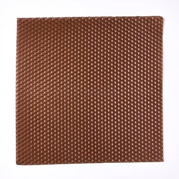 Beeswax Honeycomb Sheets, for Candle Making, Camel, 20x20x0.3cm(DIY-WH0162-55B-08)
