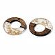 pendentifs en résine transparente et bois de noyer(RESI-S389-036A-B05)-3