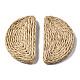 Handmade Reed Cane/Rattan Woven Beads(WOVE-S119-20A)-3