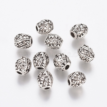 7mm Oval Alloy Beads