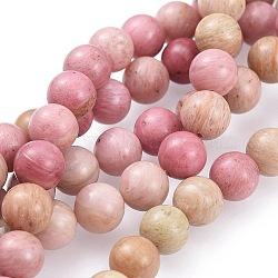 Rhodochrosite naturel brins de perles, rond, 8mm, trou: 1mm; environ 48 pcs/chapelet, 15.1'' (38.5 cm)(G-E441-01-8mm)