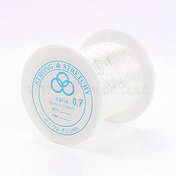 Fil cristal, fil élastique, clair, 0.7mm, 100m/rouleau(EW-0.7D-1)