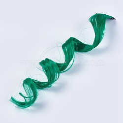 les accessoires de cheveux mode des femmes, pinces à cheveux instantanés de fer, perruques colorées avec fibre chimique, vert, 50x3.25 cm(PHAR-TAC0001-004)