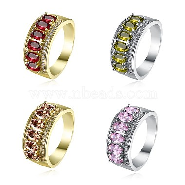 Brass Wide Band Rings(RJEW-BB21865-G-8-1)-2